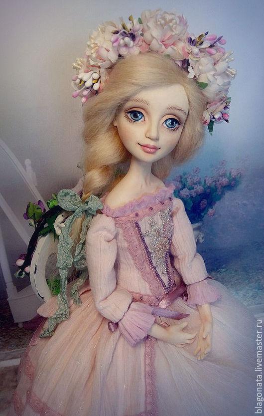Коллекционные куклы ручной работы. Ярмарка Мастеров - ручная работа. Купить Будуарная кукла Фрея. Handmade. Бледно-розовый, воздушность