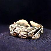 Кольца ручной работы. Ярмарка Мастеров - ручная работа Кольцо с перьями. Handmade.