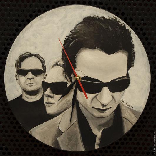 Часы для дома ручной работы. Ярмарка Мастеров - ручная работа. Купить Часы Depeche Mode. Handmade. Музыканты, рок, музыка