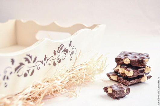 Кухня ручной работы. Ярмарка Мастеров - ручная работа. Купить Поднос Шоколад. Handmade. Коричневый, поднос для завтрака, декор для кухни