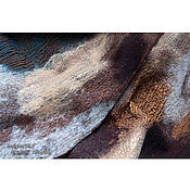 Аксессуары ручной работы. Ярмарка Мастеров - ручная работа Caramel sea... нуно-войлочный шарф.. Handmade.