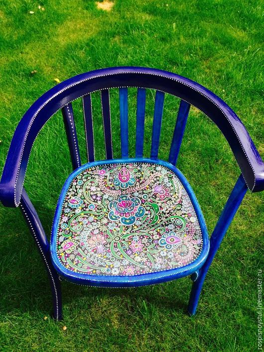 Мебель ручной работы. Ярмарка Мастеров - ручная работа. Купить Кресло в русском стиле( повтор). Handmade. Тёмно-синий