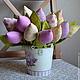 Цветы ручной работы. Ярмарка Мастеров - ручная работа. Купить Текстильные тюльпаны - декор, свадьба, подарок, весна. Handmade. Разноцветный