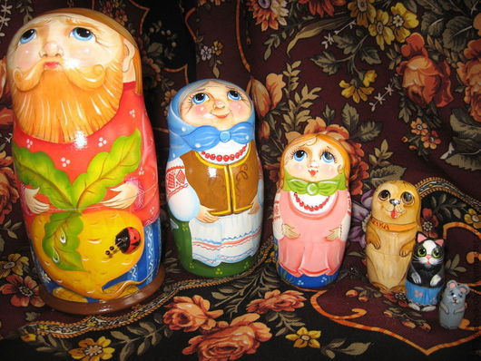 """Матрешки ручной работы. Ярмарка Мастеров - ручная работа. Купить Матрёшка деревянная """"Репка"""". Handmade. Матрешка, развивающая игрушка"""