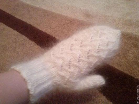 Варежки, митенки, перчатки ручной работы. Ярмарка Мастеров - ручная работа. Купить Варежки. Handmade. Белый, варежки женские