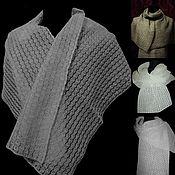 Аксессуары handmade. Livemaster - original item 100%linen openwork scarf Linen fairy tale. Handmade.