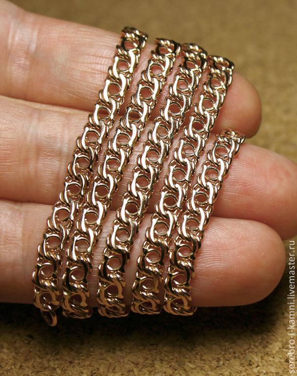 цепь золотая плетение бисмарк фото
