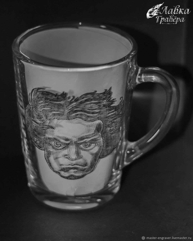"""Бетховен и лунная соната"" кружка с гравировкой, Бокалы, Санкт-Петербург,  Фото №1"