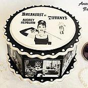 """Для дома и интерьера ручной работы. Ярмарка Мастеров - ручная работа Шкатулка """"Завтрак у Тиффани"""" (""""Breakfast at Tiffany`s""""),вар.1. Handmade."""