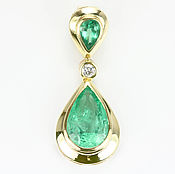 Украшения handmade. Livemaster - original item 14.73tcw Emerald Diamond Necklace, Estate emerald necklace, Omega Emer. Handmade.