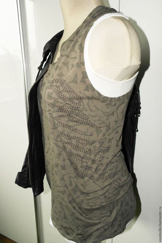 Одежда. Ярмарка Мастеров - ручная работа. Купить Топ с узлом на спине. Handmade. Оливковый