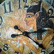 Для дома и интерьера ручной работы. Ярмарка Мастеров - ручная работа Часы настенные 30 см деревянные Древний Египет W0334. Handmade.