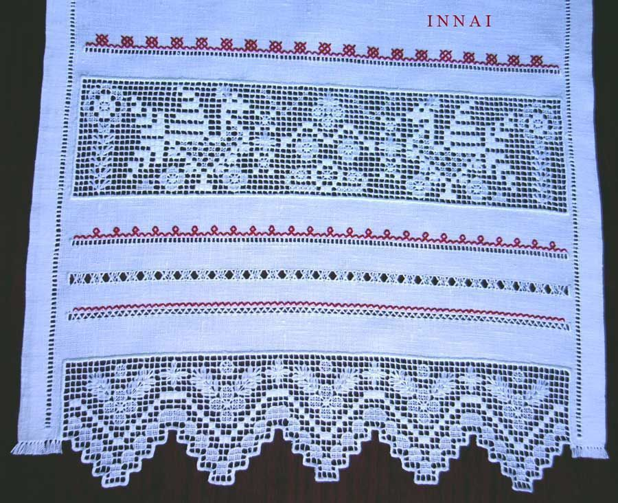 purity modesty Russian North Russian style Russian life linen white towel towel table decoration decoration heirloom embroidery strojeva