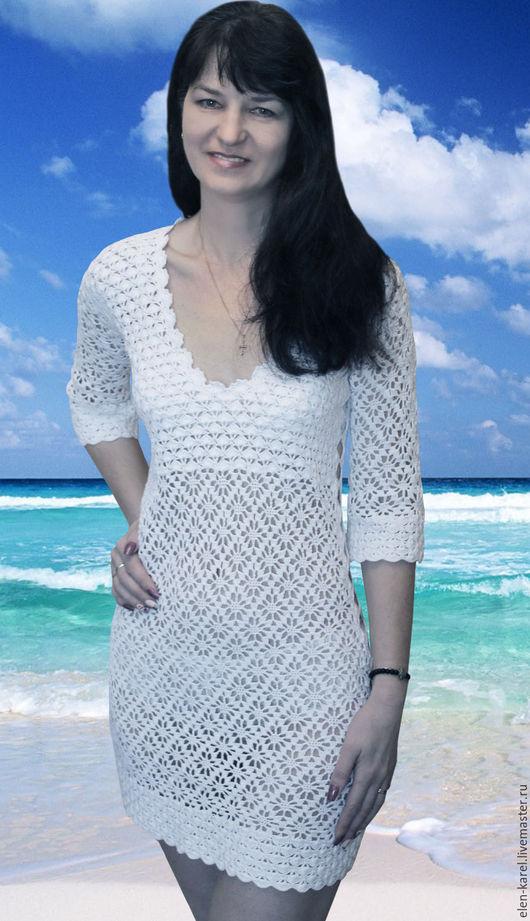 """Пляжные платья ручной работы. Ярмарка Мастеров - ручная работа. Купить Пляжное платье """"Хочу на море"""". Handmade. Белый"""