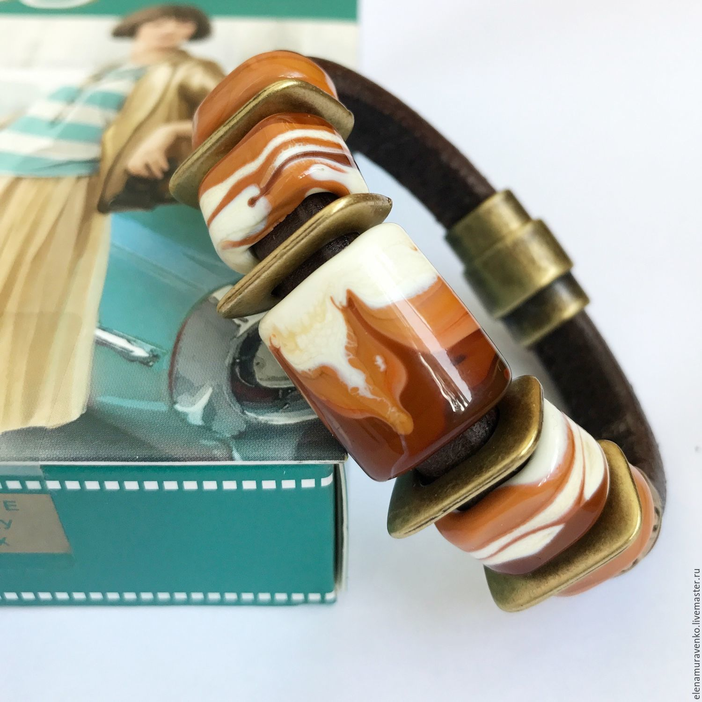 """Браслет """"Три шоколада"""" в стиле регализ (лэмпворк), Браслеты, Тобольск, Фото №1"""