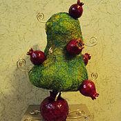 Цветы и флористика ручной работы. Ярмарка Мастеров - ручная работа Гранатовое дерево - подставка для украшений. Handmade.