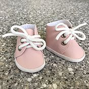 Куклы и игрушки handmade. Livemaster - original item Doll shoes with grommets (pink). Handmade.