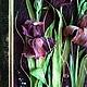"""Картины цветов ручной работы. Картина """"Ирисы"""" из листьев кукурузы. Фантазерки (fantazerki). Ярмарка Мастеров. Картина в офис, цветы, багет"""