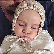 Работы для детей, ручной работы. Ярмарка Мастеров - ручная работа Шапочка-чепчик тонкий для малыша. Handmade.