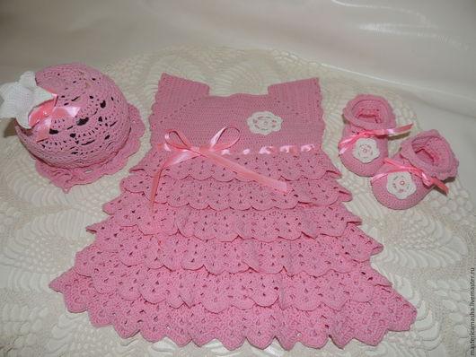 """Для новорожденных, ручной работы. Ярмарка Мастеров - ручная работа. Купить Комплект """"Маленькая Принцесса"""". Handmade. Розовый, принцесса, для девочки"""