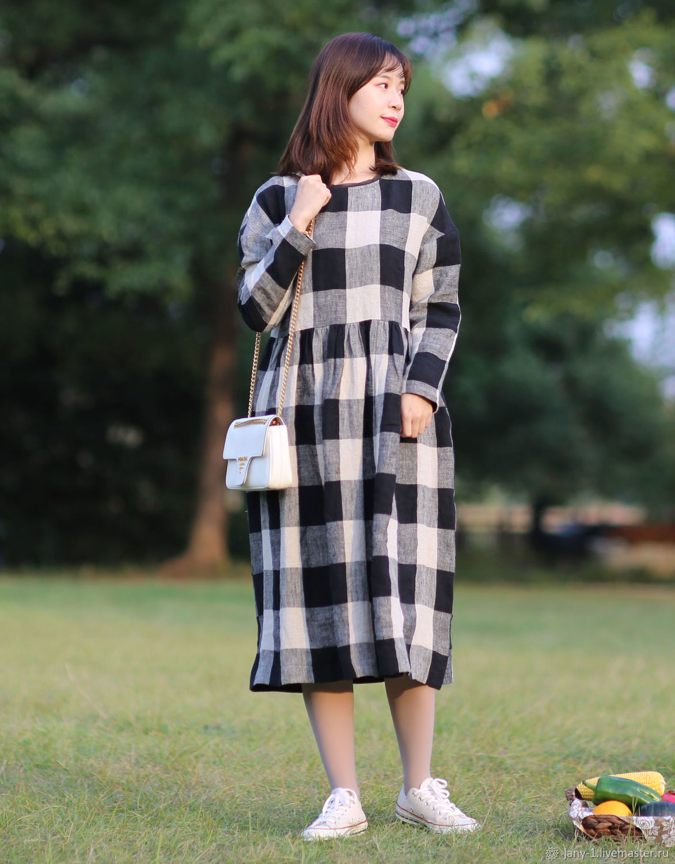 Оригинальный дизайн черный серый плед, Платья, Гуанчжоу,  Фото №1