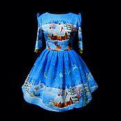 """Одежда ручной работы. Ярмарка Мастеров - ручная работа Платье -""""Зимние истории"""". Handmade."""