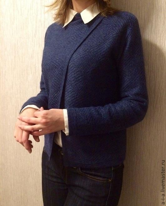 Кофты и свитера ручной работы. Ярмарка Мастеров - ручная работа. Купить Кардиган. Handmade. Синий, кардиган вязаный, кардиган женский