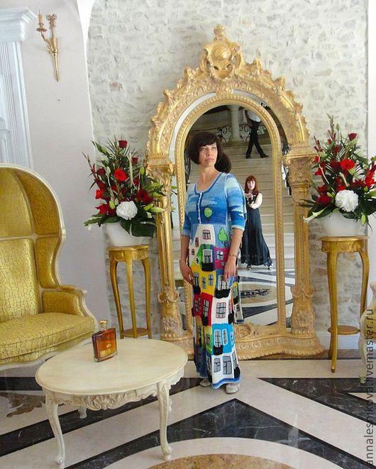 """Платья ручной работы. Ярмарка Мастеров - ручная работа. Купить Летнее платье """"Хундертвассер"""". Handmade. Рисунок, вязаное платье"""
