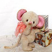 Куклы и игрушки ручной работы. Ярмарка Мастеров - ручная работа Мышка тедди. ТРУСИШКА.. Handmade.