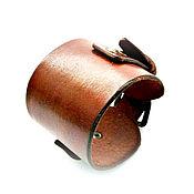 Украшения handmade. Livemaster - original item Wide genuine leather bracelet for men. Handmade.