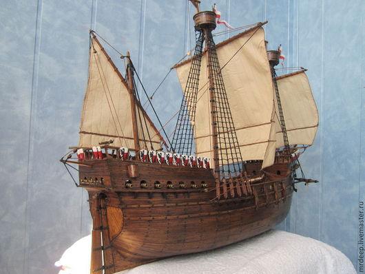 Подарки для мужчин, ручной работы. Ярмарка Мастеров - ручная работа. Купить Модель парусного корабля Cocca Anseatica. Handmade. Коричневый