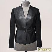 Одежда handmade. Livemaster - original item Ilona jacket made of genuine leather and suede (any color). Handmade.