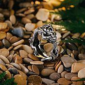 Кольца ручной работы. Ярмарка Мастеров - ручная работа Кольцо Дракон литой из серебра. Handmade.