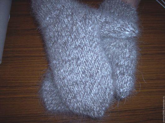 Готовая работа Варежки двойные, из козьей шерсти размер 18 х 8,5 см (+ 6 см манжета)  вес 130 гр Цена 1500 руб