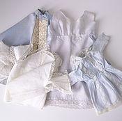 Винтаж ручной работы. Ярмарка Мастеров - ручная работа лот 2 : рубашечка,платье, накидка, воротник, распашонка. Handmade.