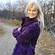 Верхняя одежда ручной работы. Куртка-жакет валяная Виолетта. Марина Власенко. Интернет-магазин Ярмарка Мастеров. Цветочный, флис