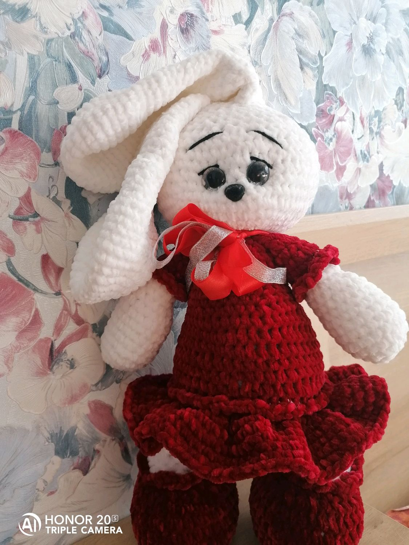 Вязаный заяц, Мягкие игрушки, Ижевск,  Фото №1