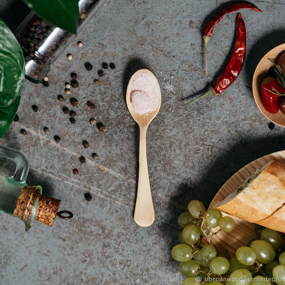 Деревянная чайная ложка из Сибирского Кедра посуда из дерева #L25, Наборы посуды, Новокузнецк,  Фото №1
