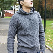 Мужская одежда handmade. Livemaster - original item Men`s knitted sweater Di Caprio