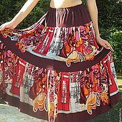 Одежда ручной работы. Ярмарка Мастеров - ручная работа Трикотажная летняя юбка Gipsy. Handmade.