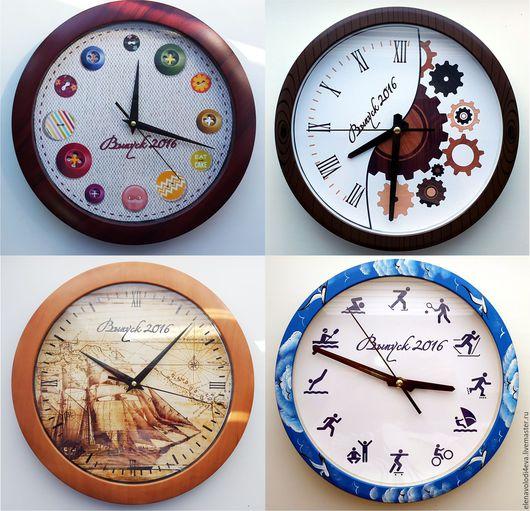 Часы для дома ручной работы. Ярмарка Мастеров - ручная работа. Купить ЧАСЫ В подарок Преподавателям. Handmade. Часы настенные