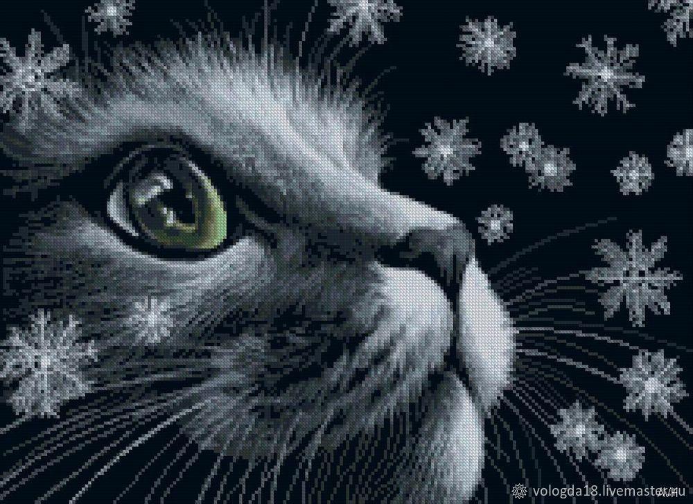Животные на черном вышивка схемы