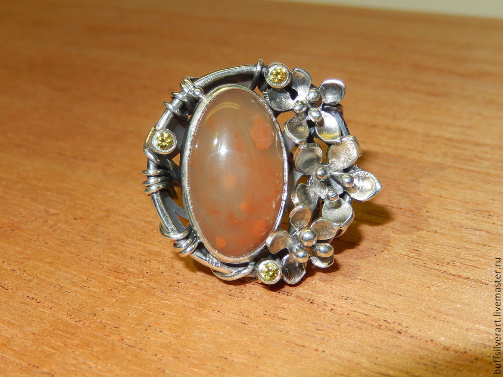 Silver ring 'the Spirit of the STONE.Chalcedony', Rings, Ekaterinburg,  Фото №1