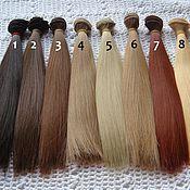 Материалы для творчества ручной работы. Ярмарка Мастеров - ручная работа Волосы прямые 25см 9 цветов. Handmade.