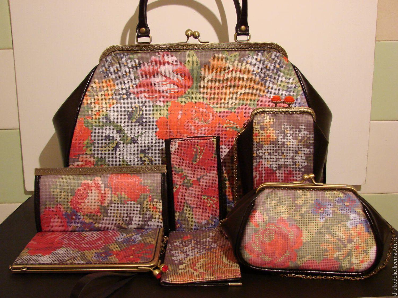 Пошитые сумки под вышивку бисером 80