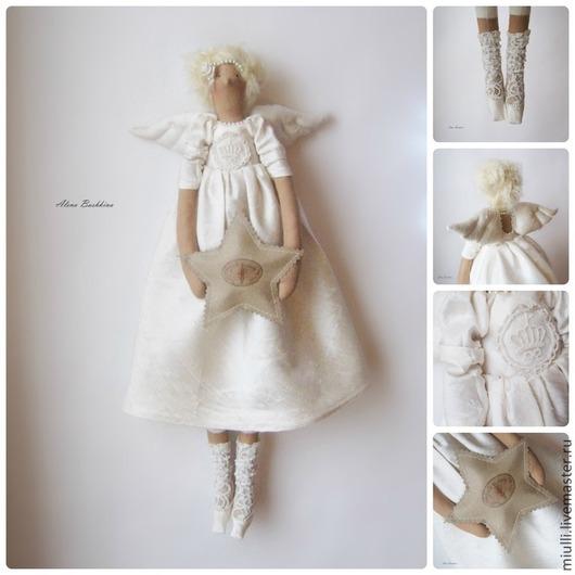 Куклы Тильды ручной работы. Ярмарка Мастеров - ручная работа. Купить Тильда Шелковый Ангел. Handmade. Тильда, винтаж, для малыша