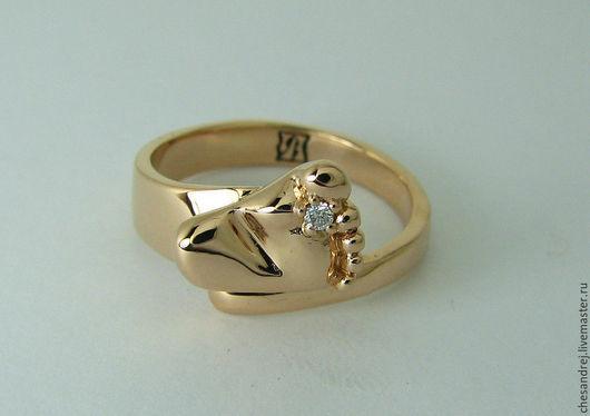 Золотое кольцо 585 пр. `ПЯТОЧКА МЛАДЕНЦА`