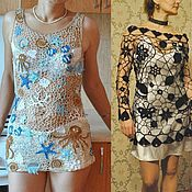 Одежда ручной работы. Ярмарка Мастеров - ручная работа Вязаные кружевные туники. Handmade.