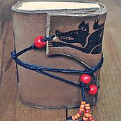 """Канцелярские товары ручной работы. Ярмарка Мастеров - ручная работа кожаный блокнот """"огненный койот"""". Handmade."""