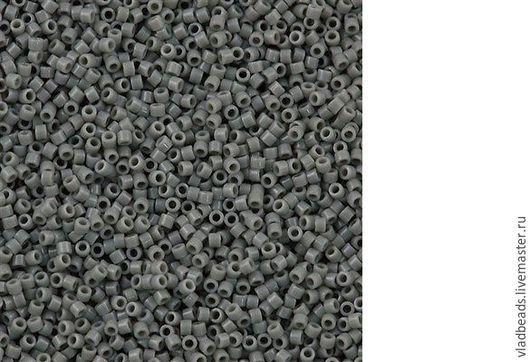 Для украшений ручной работы. Ярмарка Мастеров - ручная работа. Купить Бисер delica 731 Opaque Gray. Handmade.